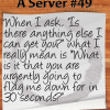 restaurant server humor