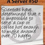 hot coffee senior citizen