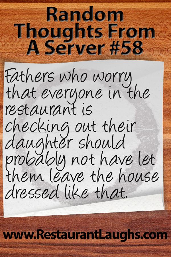 Waiter humor